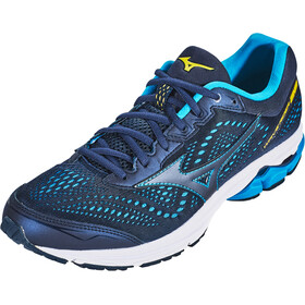 Mizuno Wave Rider 22 Shoes Herrer, peacoat/peacoat/primrose yellow